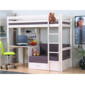 Hochbett mit Schreibtisch und Schrank Testsieger